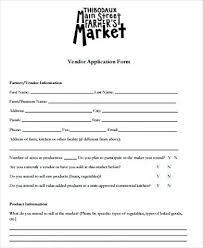 Vendor Event Application Template Special Event Food Vendor