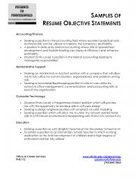 Financial Resume Objective Finance Resume Objective Accounting Resume Objective Template 10
