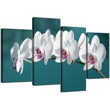 display gallery item 5 4 part set of living room teal canvas pictures display gallery item 6 on blue orchid canvas wall art with canvas wall art of white orchids on teal background for your office
