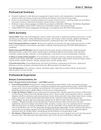 resume professional summary sample executive assistant resume ...