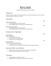 Example Basic Resume Adorable Basic Resume Samples Basic Resume Sample For Free Simple Resume