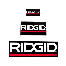 ridgid logo. ridgid label - 48 x 16 cm ridgid logo