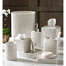 deals orange bathroom accessories: this stylish bath accessory collection will provide an elegant decorative highlight for your atmosphere this stunning eight piece collection has been cast