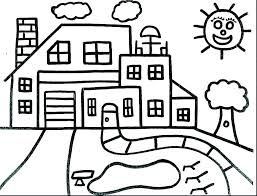 House Coloring Pictures Tree House Coloring Pages Printable Color