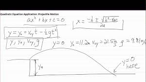 quadratic formula for physics