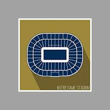 Notre Dame Stadium Detailed Seating Chart Amazon Com Artsycanvas Notre Dame Notre Dame Stadium