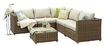 bay 6 piece patio sectional set outdoor sofa furniture covers canada