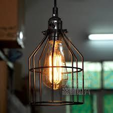vintage wrought iron cage pendant lights industrial pendant lamps loft retro hanging lamp light fixtures luminaria