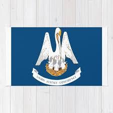 flag of louisiana louisianian south jazz blues french new orleans baton rouge usa america us rug
