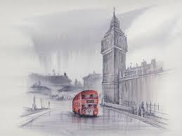 paint london in watercolours part one monochrome