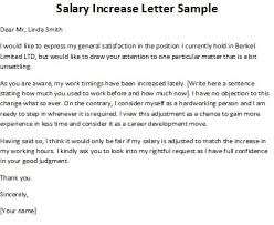 pay raise letter samples how write a pay raise letter salary increase sample smart and