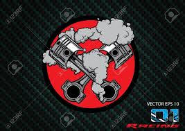 Race Car Engine Design Engine Shoulder Car Piston Racing Car Logo Graphic Design Illustration