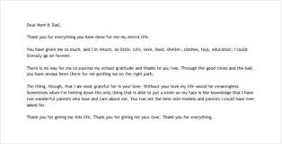 Thank You Note Example Gorgeous 44 Thank You Letter To Parents PDF DOC Free Premium Templates