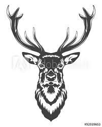 Deer Head Tuto A Podobné Vektorové Grafiky Naleznete Ve Službě
