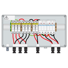 pv combiner box 1000vdc 30a ip66 3 1str 2 t2 15a fuse connector