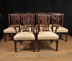 chippendale dining chairs. Image Is Loading Set-10-Mahogany-Chippendale-Dining-Chairs-English-Furniture Chippendale Dining Chairs E