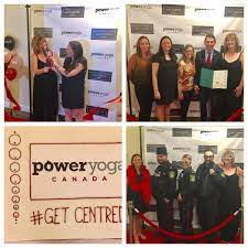 """Peel Regional Police on Twitter: """"Sarah Sheaves and Tania Lutz get a little  help from their friends during the red ribbon cutting event for new  #poweryoga they were joined by MP and"""