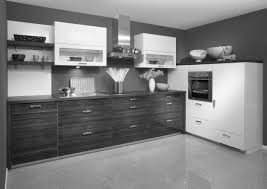 beautiful modern grey kitchens decors with white cabinetry set also dark grey wall painted as well as dark countertop as inspiring modern grey kitchens