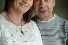Mandy Hodgkinson with her husband-to-be , Andy Collinson. - C_71_article_1043355_image_list_image_list_item_0_image-490356