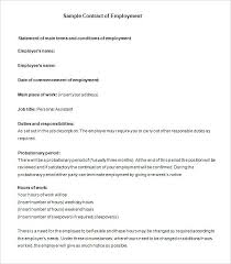 Free Employment Contract Templates Position Agreement Template Employment Templates Free Sample Example