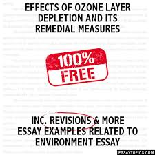 effects of ozone layer depletion and its remedial measures essay effects of ozone layer depletion and its remedial measures hide essay types