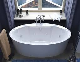 venzi sole 34 x 68 x 23 oval freestanding whirlpool jetted bathtub with center drain by