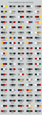 Lego Brick Colour Chart 67 Years Of Lego Sets