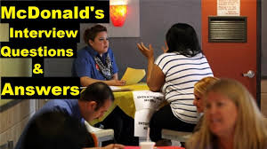 Mcdonalds Job Interview Questions And Answers Youtube