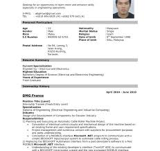 Resume Format For Applying Job Abroad Best Of Resume Picture Format Free Sample For Architect Templates Template