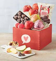 Fruit bouquets can make the perfect valentines day gifts and our edible valentines day fruit arrangements with chocolate covered fruit make a great gift for him or her. Valentine S Day Delivery Gifts Baskets For Him Harry David
