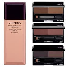 shiseido makeup collection for fall 2017 foundation and eyebrow styling pact