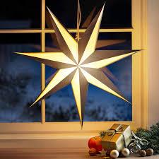 Faltsternleuchte Weihnachtsstern Papierstern Beleuchtet