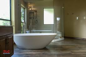 photo of modern tub installed by tlc during a bathroom remodel