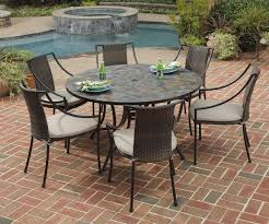 furniture captivating granite garden table and chairs 16 round metal patio aluminum pub height outdoor cast