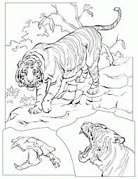 Small Picture Coloring Page Tiger animal coloring pages 5