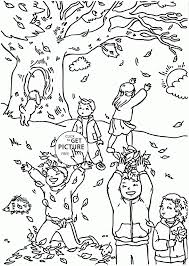 Small Picture Coloring Pages Funny Autumn Day Coloring Pages For Kids Fall