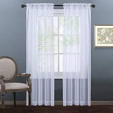 living room sheer window treatments.  Living NICETOWN Sheer Window Curtains Panels  Curtain For Bedroom  Rod Pocket Plain Solid In Living Room Treatments H