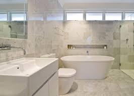 bathroom beautiful marble bathroom design with modern free standing bathtub and built in storage luxury