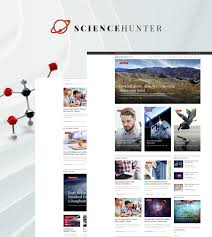 Photography Website Templates Amazing Science Journal WordPress Theme