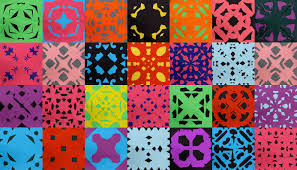 Art With Mr Hall Paper Cutting Color Pattern Lines Pinterest