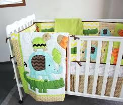 plain baby bedding sets baby bedding sets embroidery giraffe elephant crocodile tortoise crib bedding set cotton