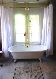 clawfoot tub bathroom ideas. Sleek And Tidy Clawfoot Tub Bathroom Ideas : Interesting With Gold Layer