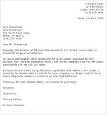 Administrative Assistant Cover Letter Samples Example 1 Sample With