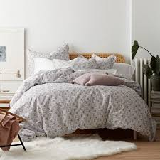 cstudio home by the company zahra 3 piece organic cotton percale queen duvet cover