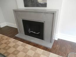 concrete fireplace surround with traditional design