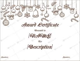 Download Award Certificate Templates Christmas Themed Award Certificate Templates Download In