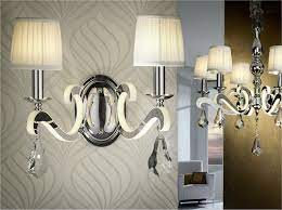 reflective chandelier with pleated