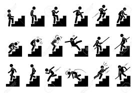 階段や階段のピクトグラムを持つ男クリップアートには階段を持つ人のさまざまなアクションが描かれてい