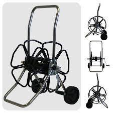 wheeled hose reel stainless steel frame