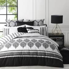 Black Doona Covers - Black Quilt Covers Online - Planet Linen & Tangier Black Quilt Cover Set By Logan and Mason Adamdwight.com